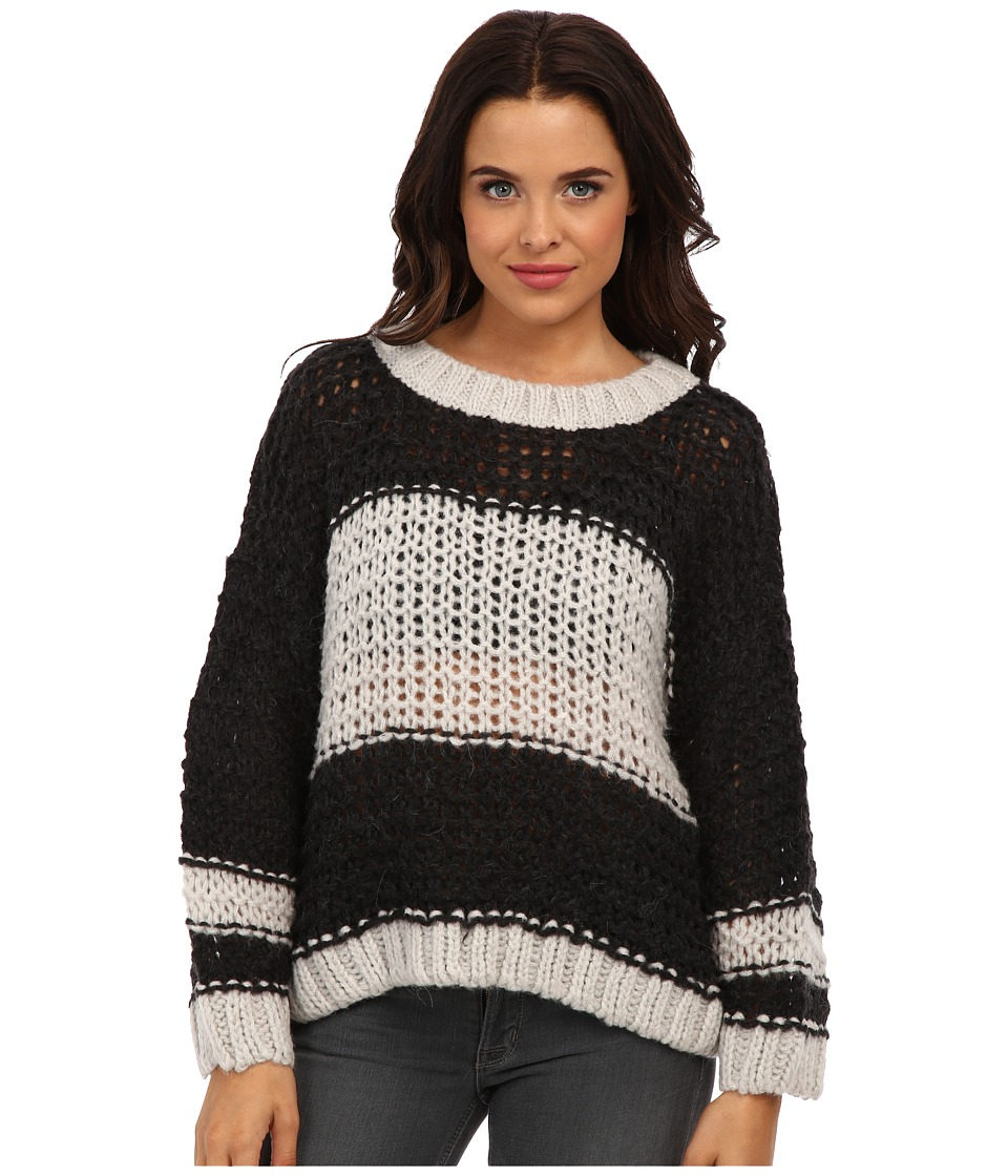 Free People - Monaco Pullover Sweater (Charcoal Combo) Women's Long Sleeve Pullover