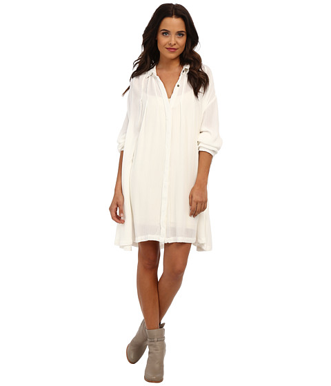Free People - Snap Out Of It Button-Down (Ivory) Women
