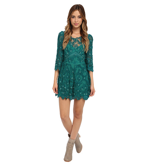 Free People - Romper Songbird (Emerald) Women's Jumpsuit & Rompers One Piece