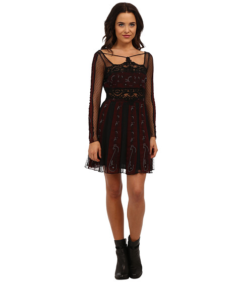 Free People - Tough Love Dress (Black Combo) Women