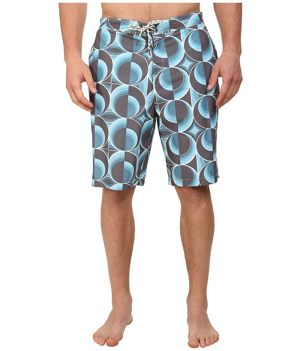 Tommy Bahama Big & Tall - Big Tall Baja Cyber Circles (Arroyo Blue) Men's Swimwear