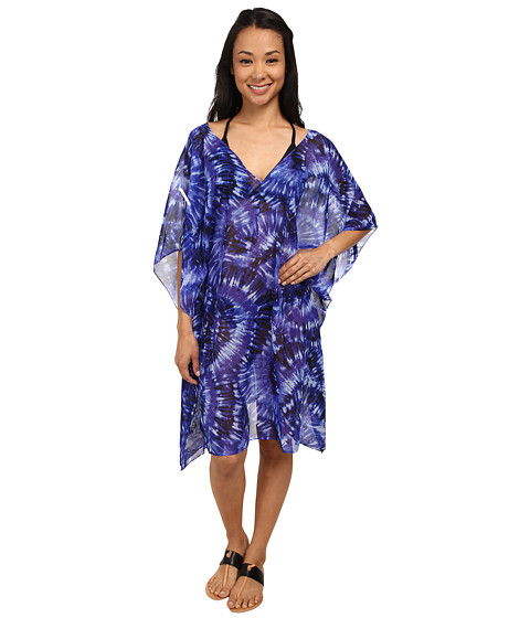 Miraclesuit - Fan Dance Caftan Cover-Up (Eggplant) Women's Swimwear