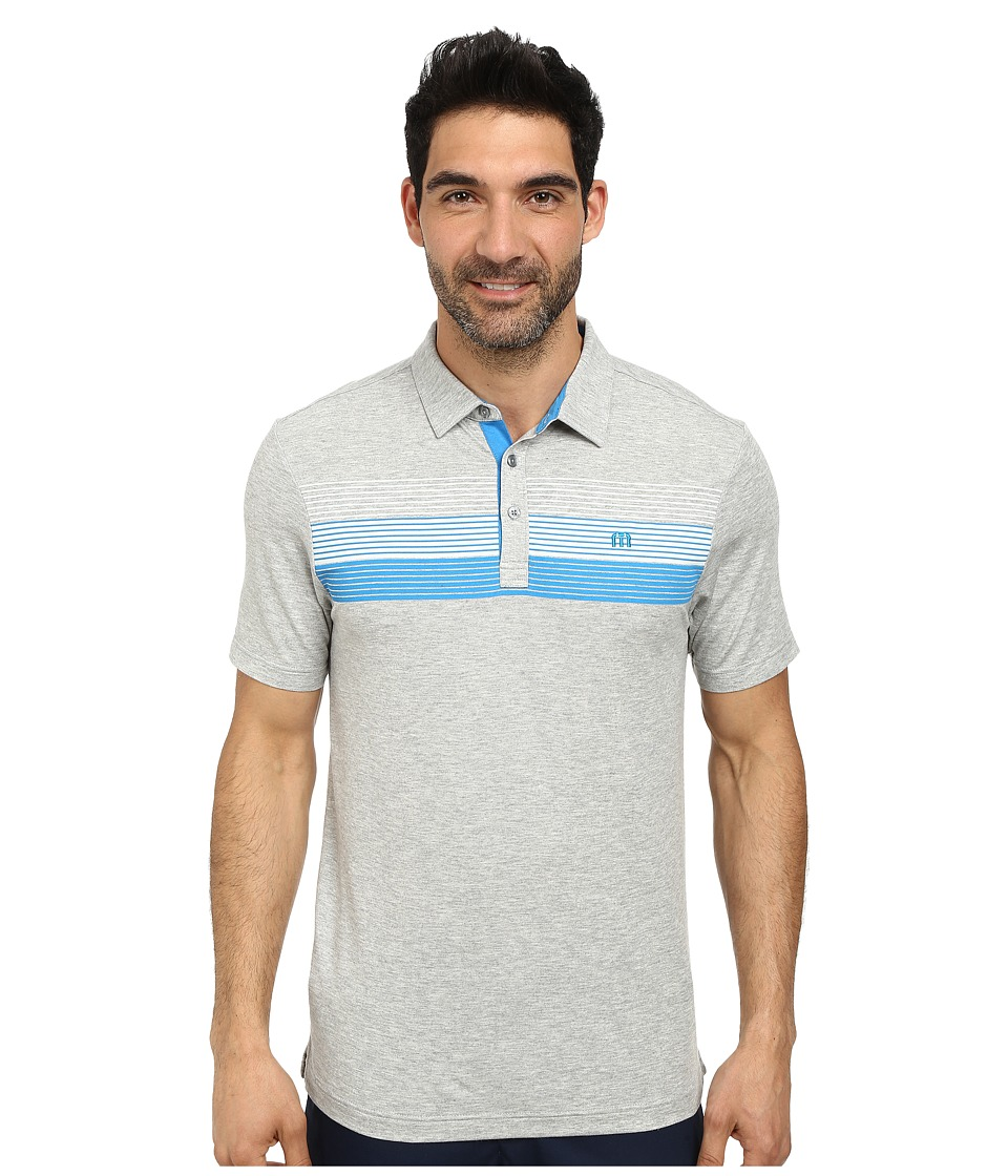 TravisMathew - The Elevator Polo (Heather Grey) Men's Short Sleeve Pullover