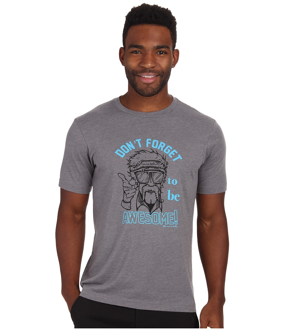 TravisMathew - Be Awesome Tee (Heather Grey) Men
