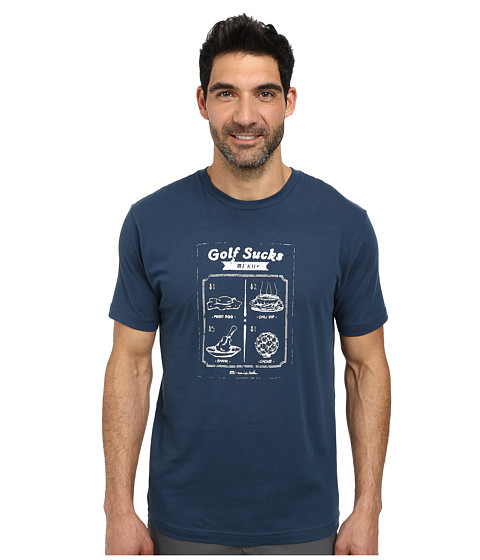 TravisMathew - The Specials Tee (Dark Blue) Men's T Shirt