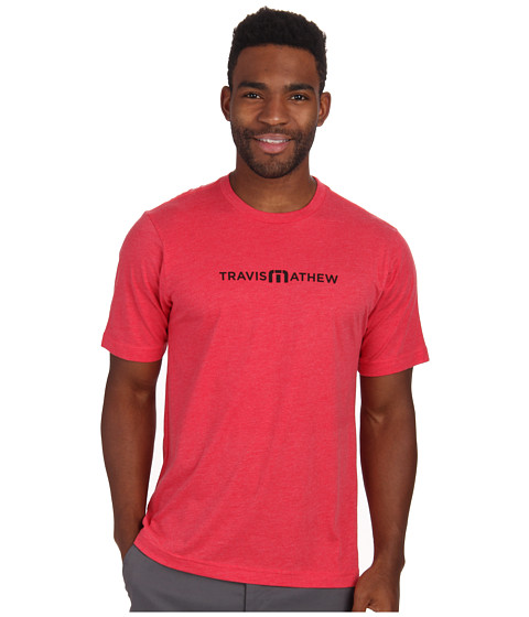 TravisMathew - Tour Logo Tee (Heather Red) Men's T Shirt