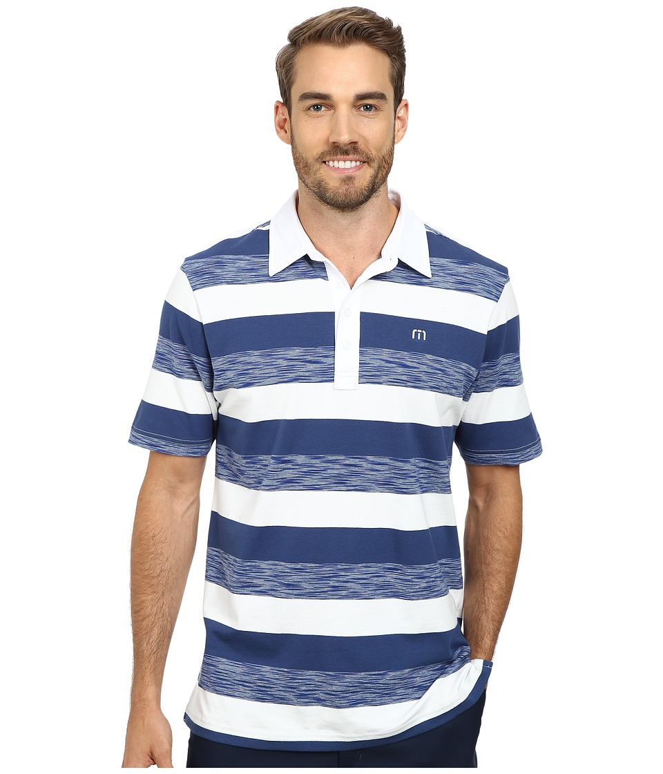 TravisMathew - McCormick Polo (Celestial) Men's Short Sleeve Knit