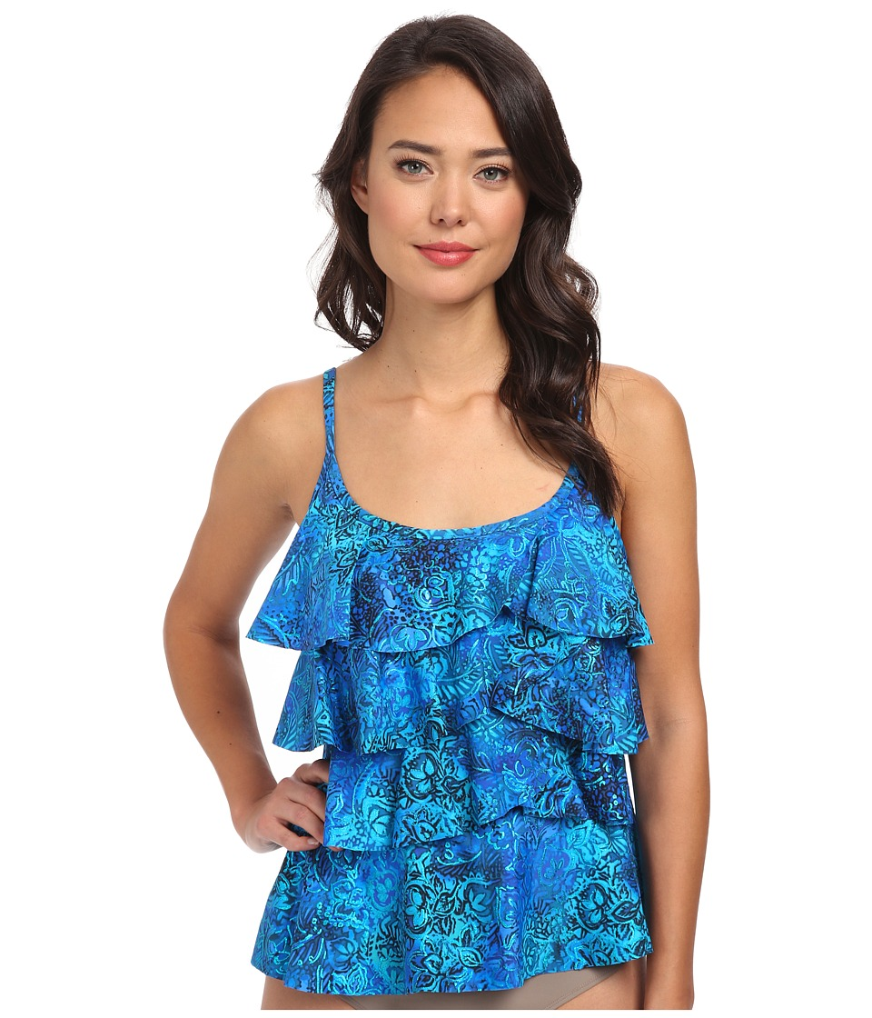 Miraclesuit - Tangier Tiering Up Top (Blue) Women's Swimwear