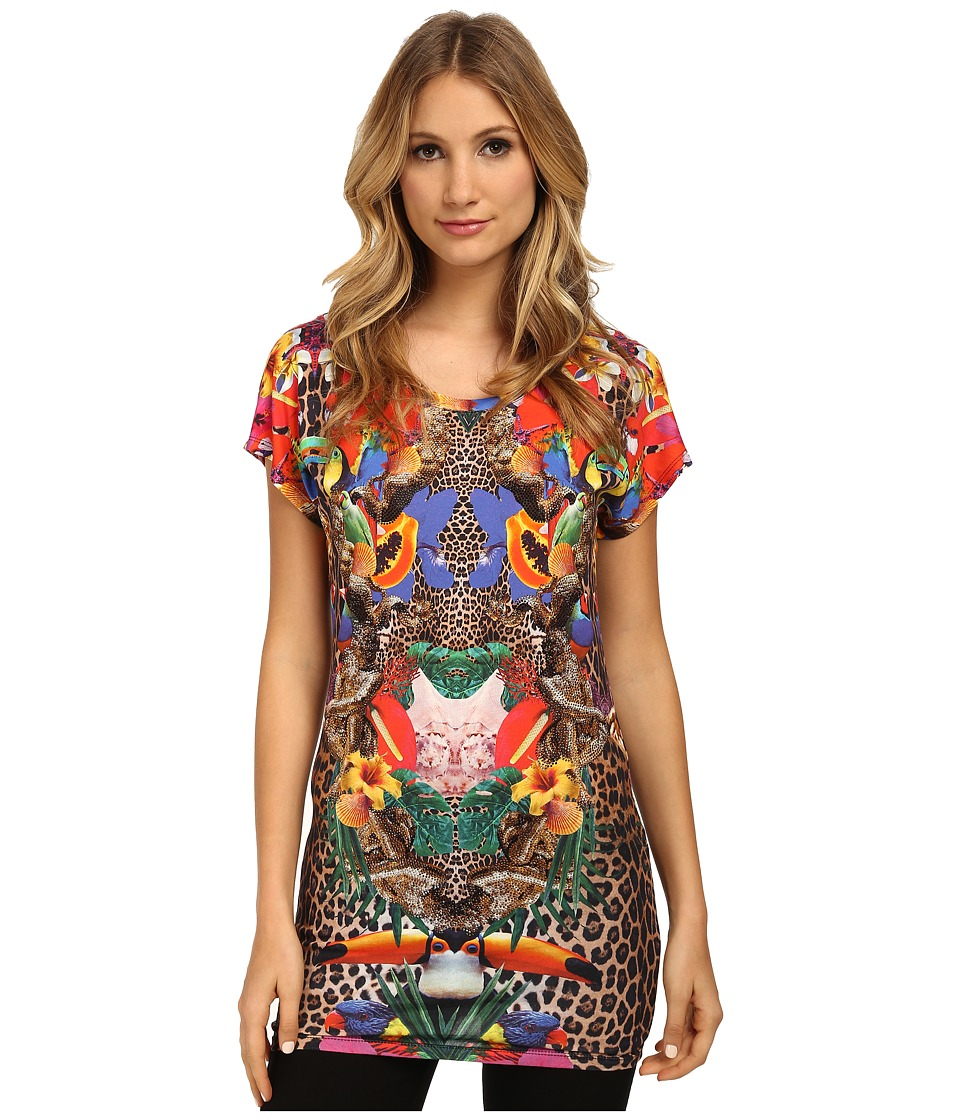 Philipp Plein - Leopard T-Shirt (Summer Flowers) Women