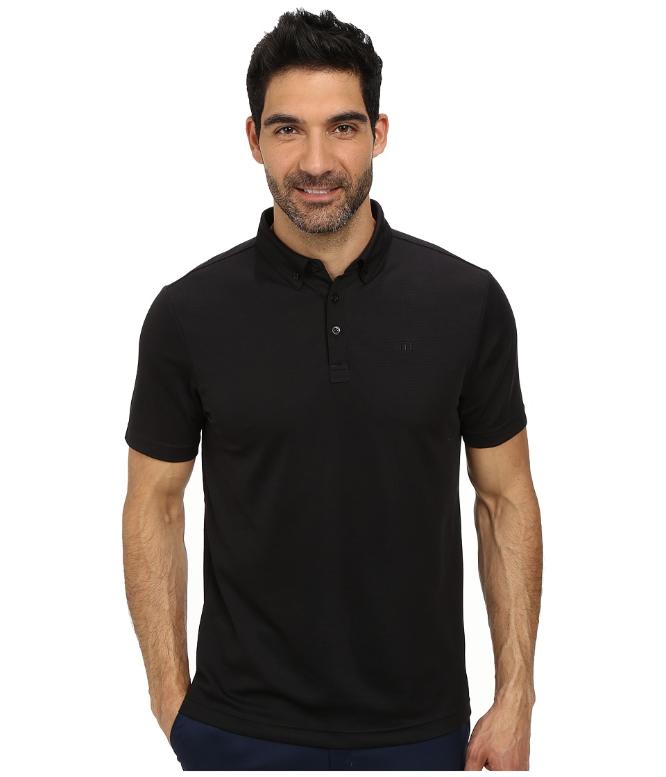 TravisMathew - Carlitos Polo (Black) Men's Short Sleeve Pullover