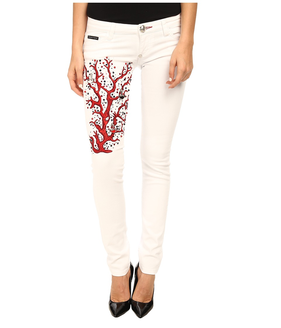 Philipp Plein - Super Sexy Slim in Snow White (Snow White) Women's Casual Pants