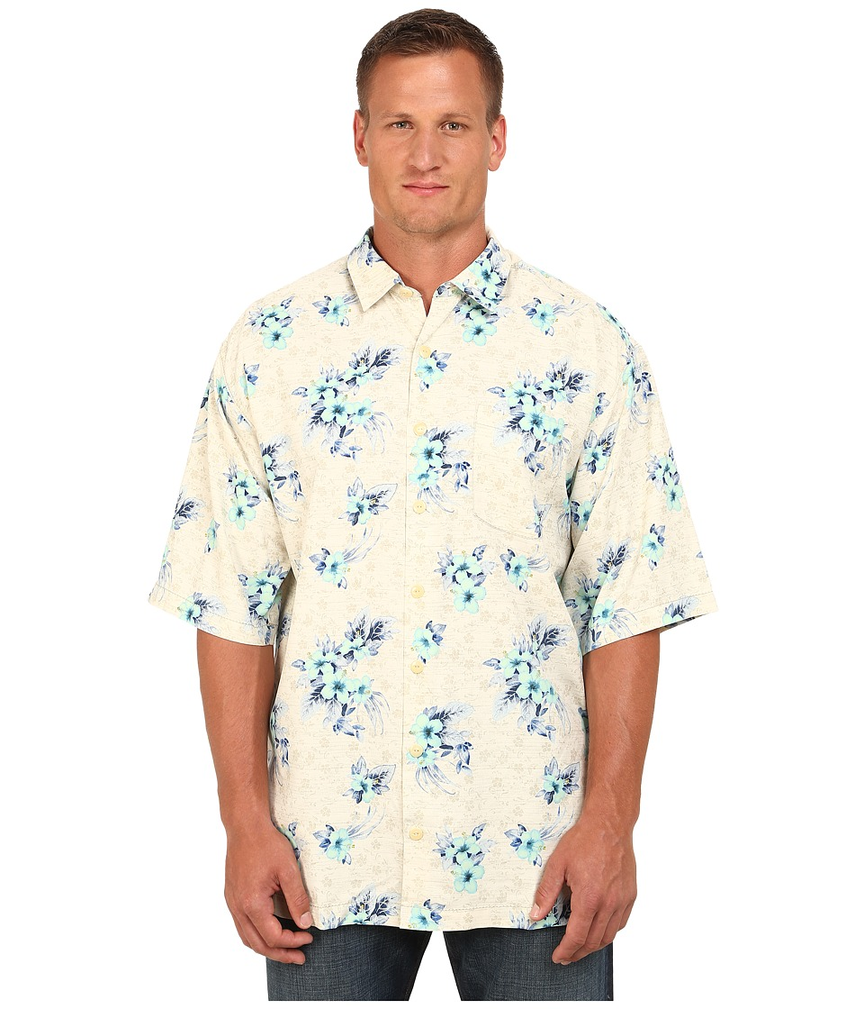 Tommy Bahama Big & Tall - Big Tall Garden Of Hope And Courage (Coconut) Men's Short Sleeve Button Up