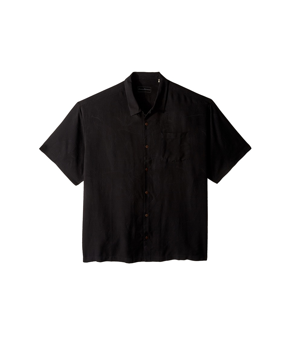 Tommy Bahama Big & Tall - Big Tall Bedarra Garden (Black) Men's Short Sleeve Button Up