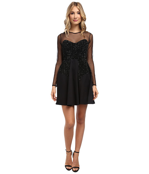 French Connection - Moon Dust Dress 71CRS (Black) Women's Dress