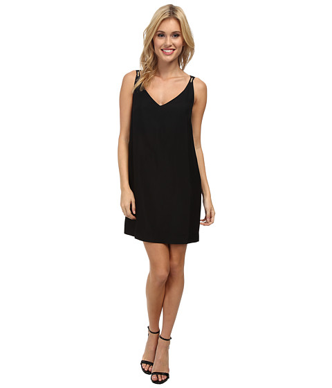 French Connection - Crystal Crepe Dress 71CRU (Black) Women's Dress