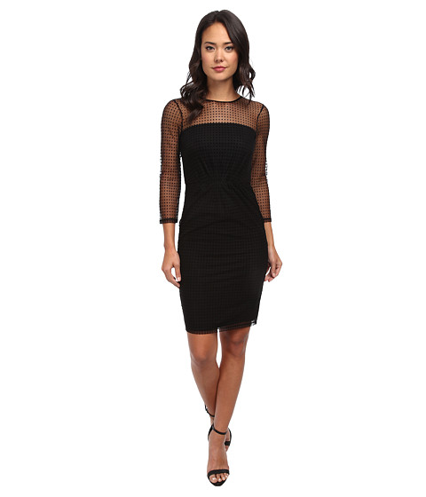 French Connection - Mona Spot Dress 71CPI (Black) Women's Dress