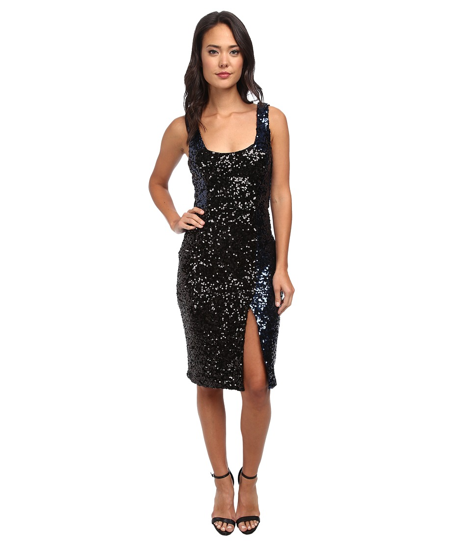 French Connection - Cosmic Sparkle Dress 71CPW (Nocturnal/Black Hologram) Women