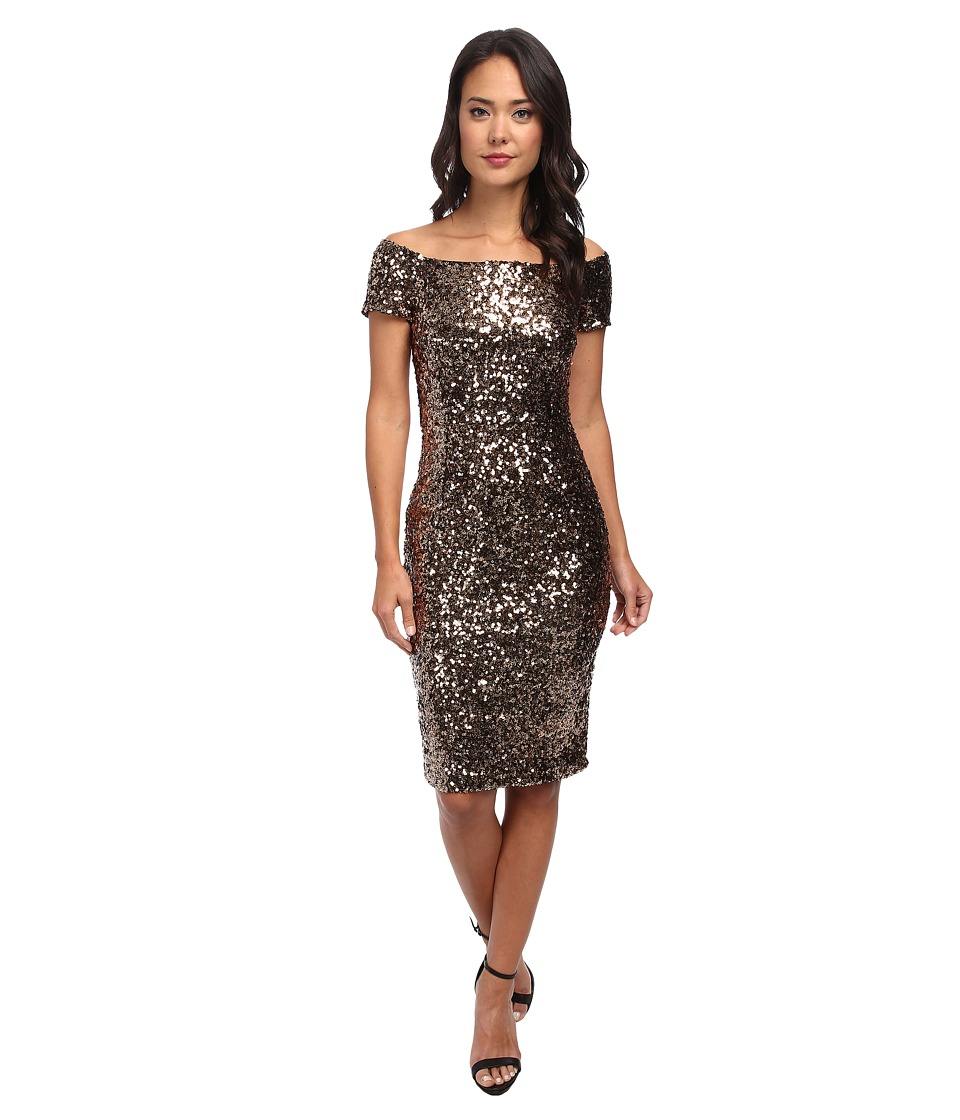 French Connection - Cosmic Sparkle Dress 71CSA (Tiger Gold) Women's Dress