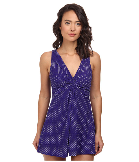 Miraclesuit - Pin Point Marais Swimdress (Eggplant) Women