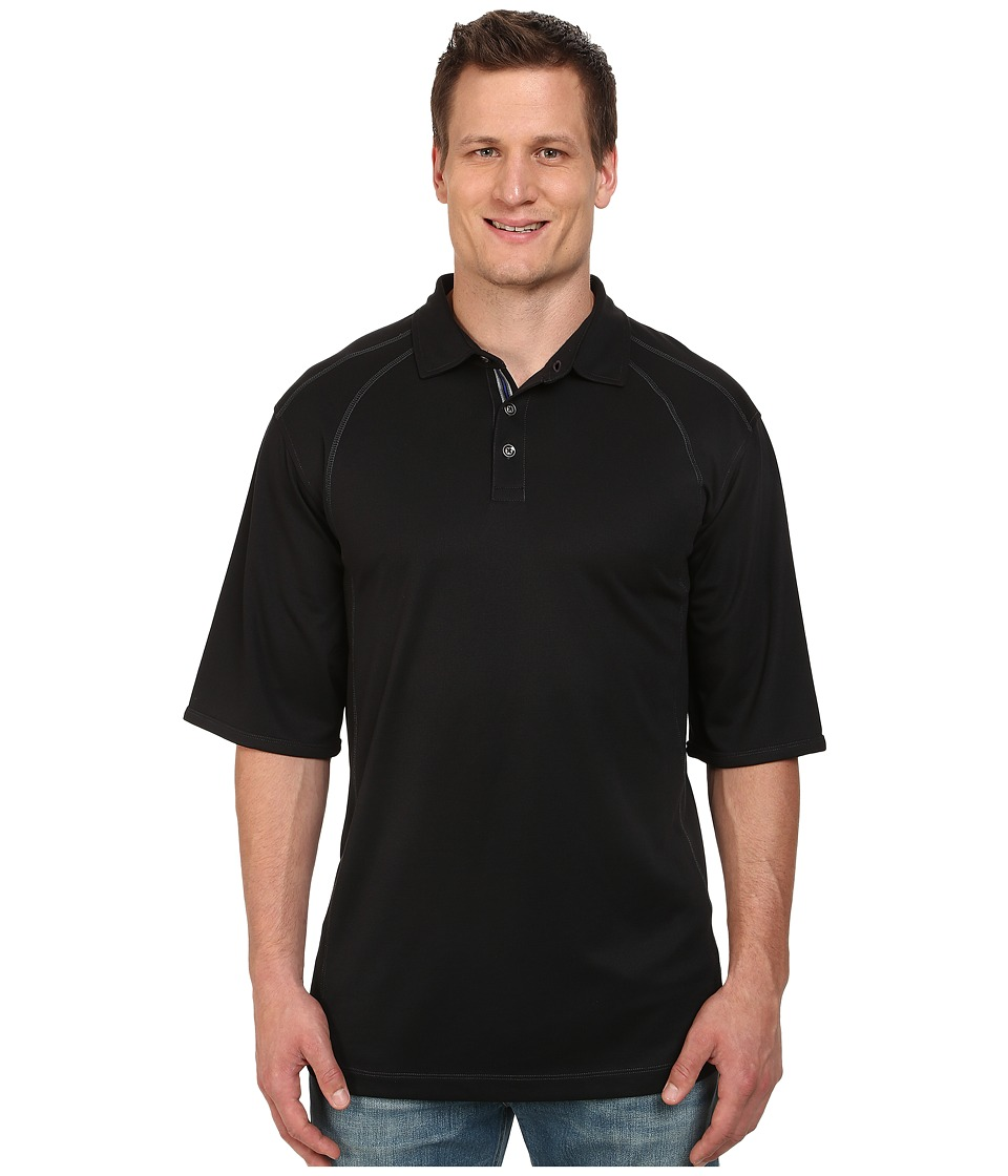 Tommy Bahama Big & Tall - Big Tall Firewall Spectator (Black) Men's Short Sleeve Pullover