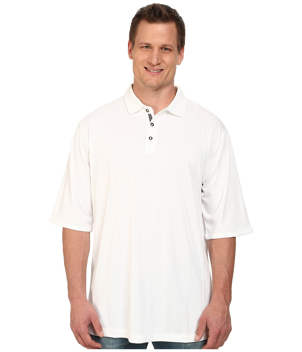 Tommy Bahama Big & Tall - Big Tall Firewall Spectator (Bright White) Men's Short Sleeve Pullover