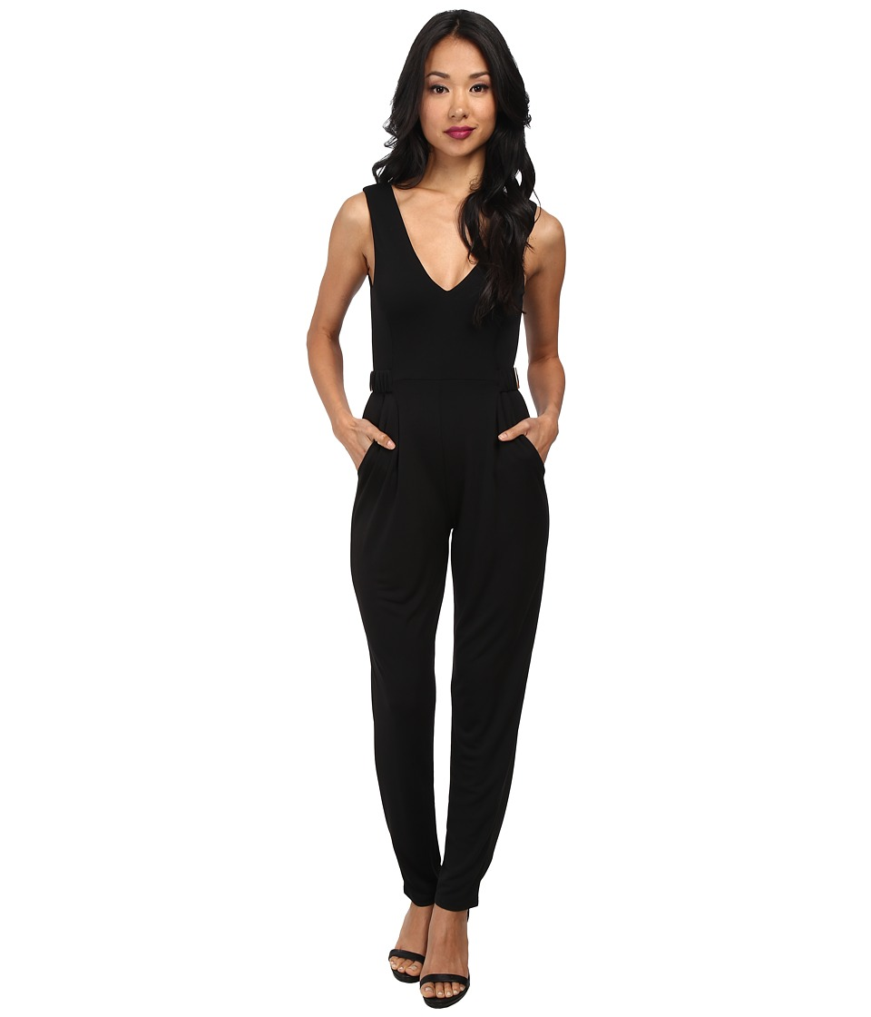 French Connection - Mona Crepe 7GCPC (Black) Women's Jumpsuit & Rompers One Piece