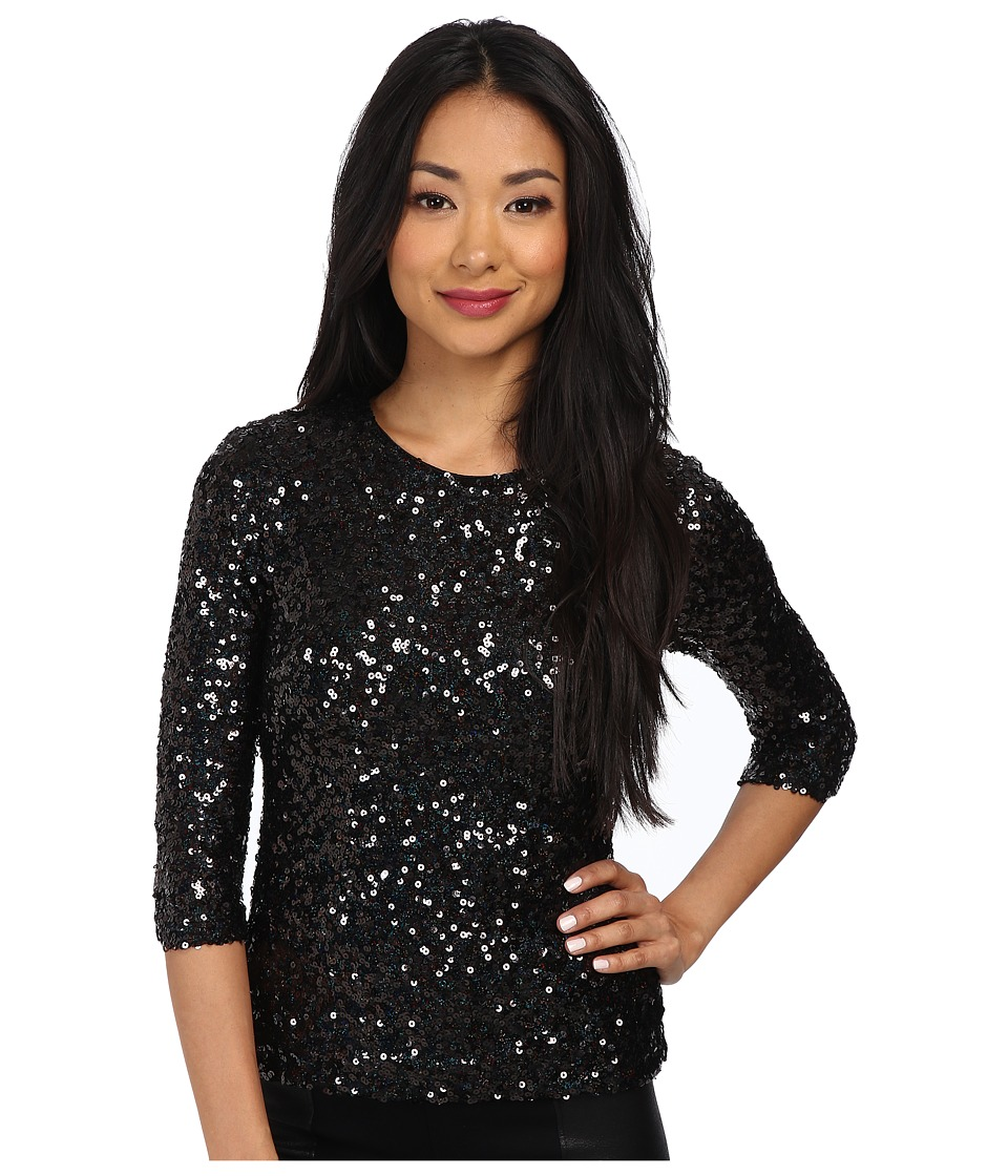 French Connection - Cosmic Sparkle Top 72CPX (Black Hologram) Women