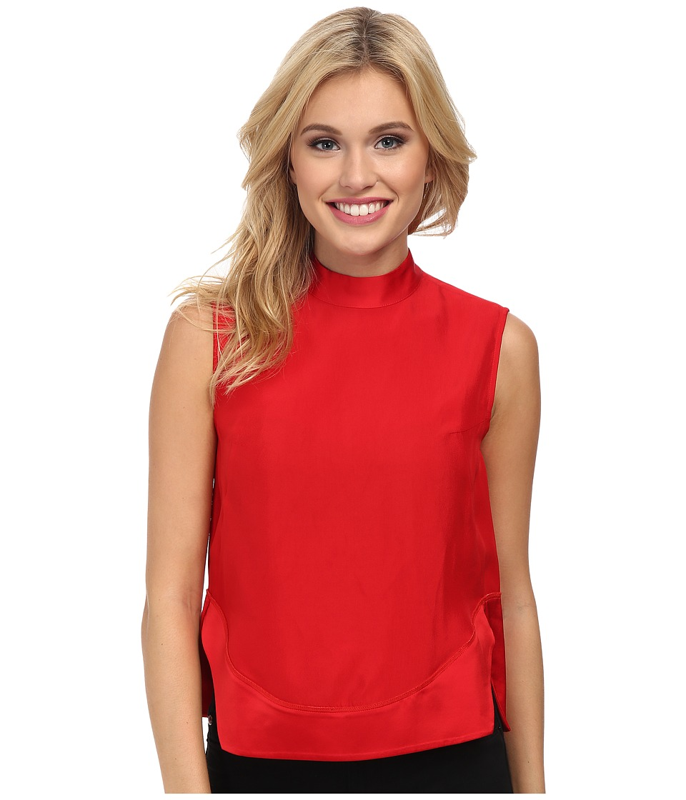 French Connection - Crystal Crepe Top 72CPA (Royal Scarlet) Women's Clothing