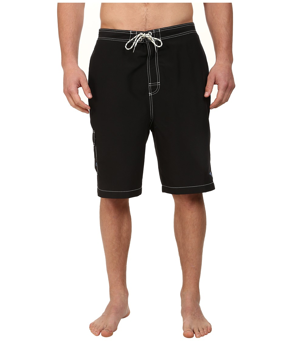 Tommy Bahama Big & Tall - Big Tall Baja Poolside (Black) Men's Swimwear