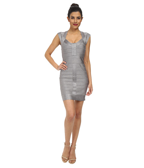 French Connection - Spotlights Knits Dress 71CTF (Silver Lurex) Women