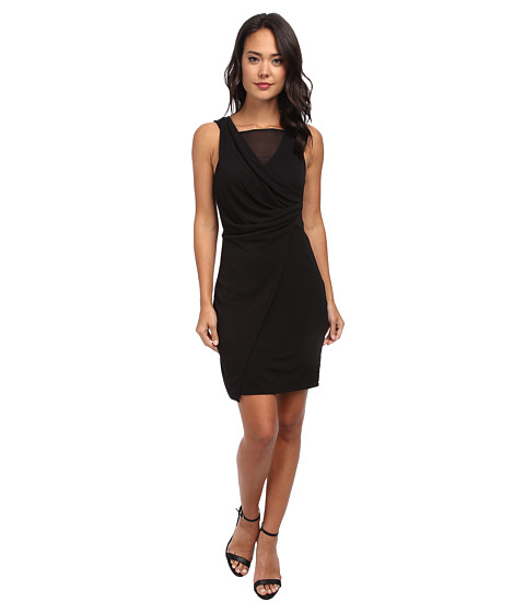 French Connection - Mona Crepe Dress 71CPZ (Black) Women's Dress