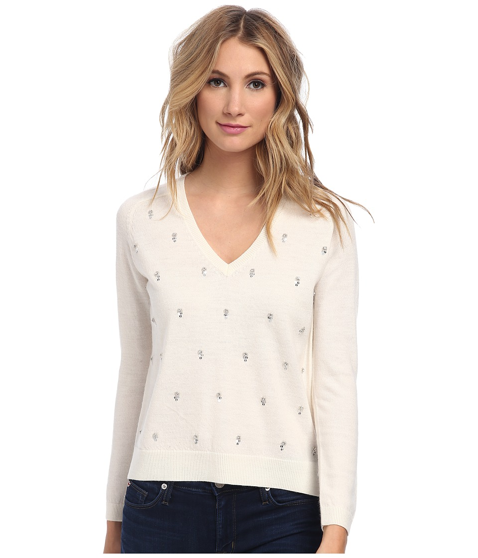 French Connection - Crystal Drop Knits 78CPH (Winter White) Women