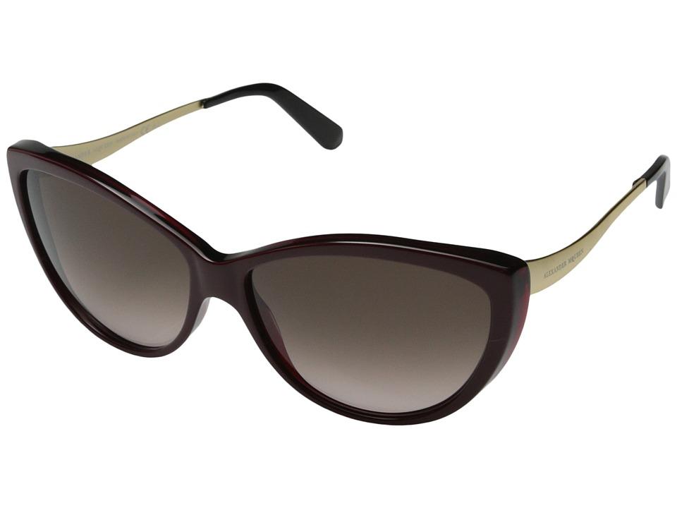 Alexander McQueen - AMQ 4147/N/S (Blue Black/Gold/Brown Gradient) Fashion Sunglasses