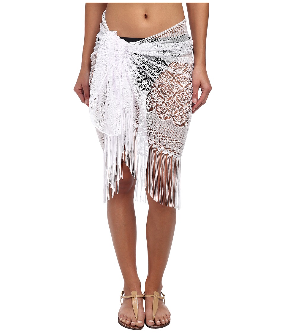 Miraclesuit - Novel Ideas Crochet Sarong Cover-Up (White) Women