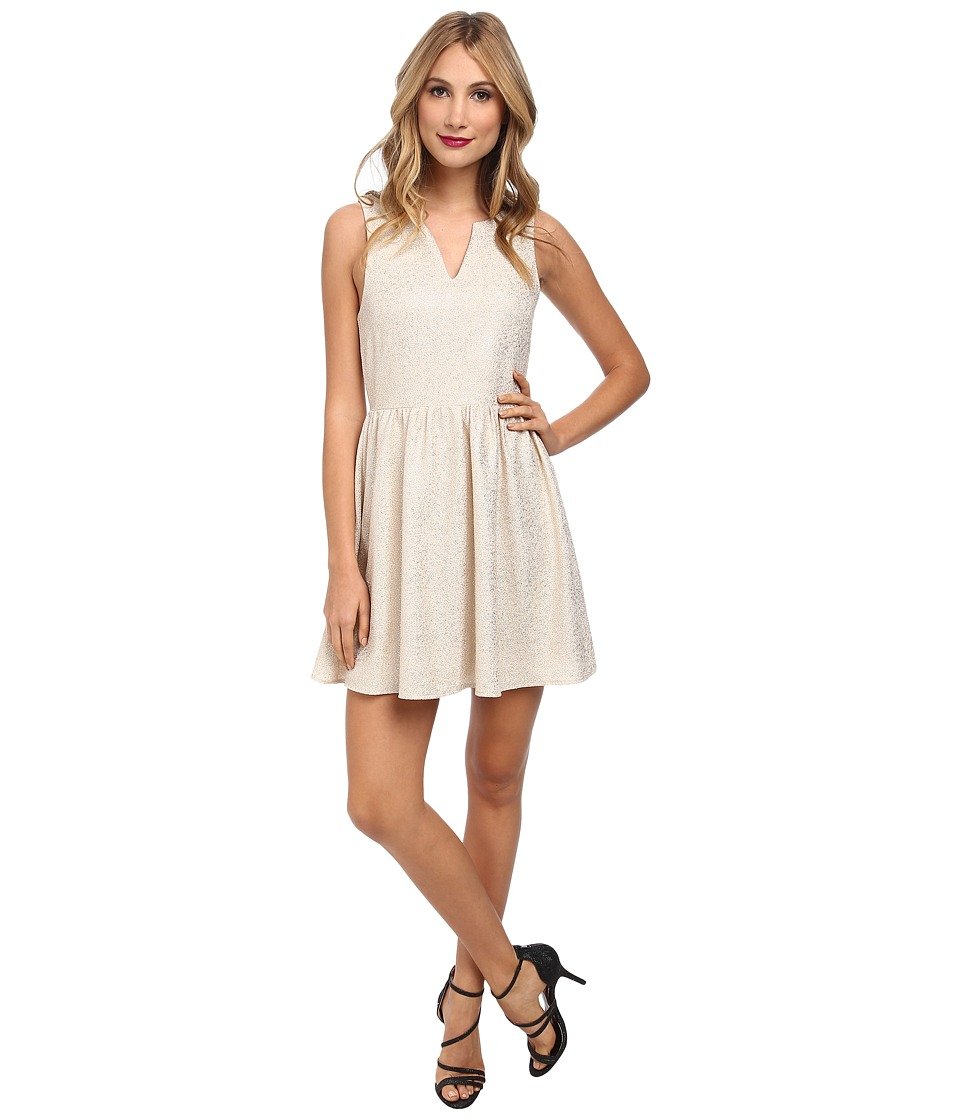 Brigitte Bailey - Emilia Fit Flare Twinkle Dress (Cream/Gold) Women's Dress