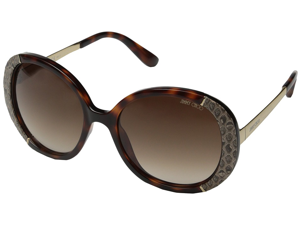 Jimmy Choo - Millie/S (Dark Havana/Brown Gradient) Fashion Sunglasses