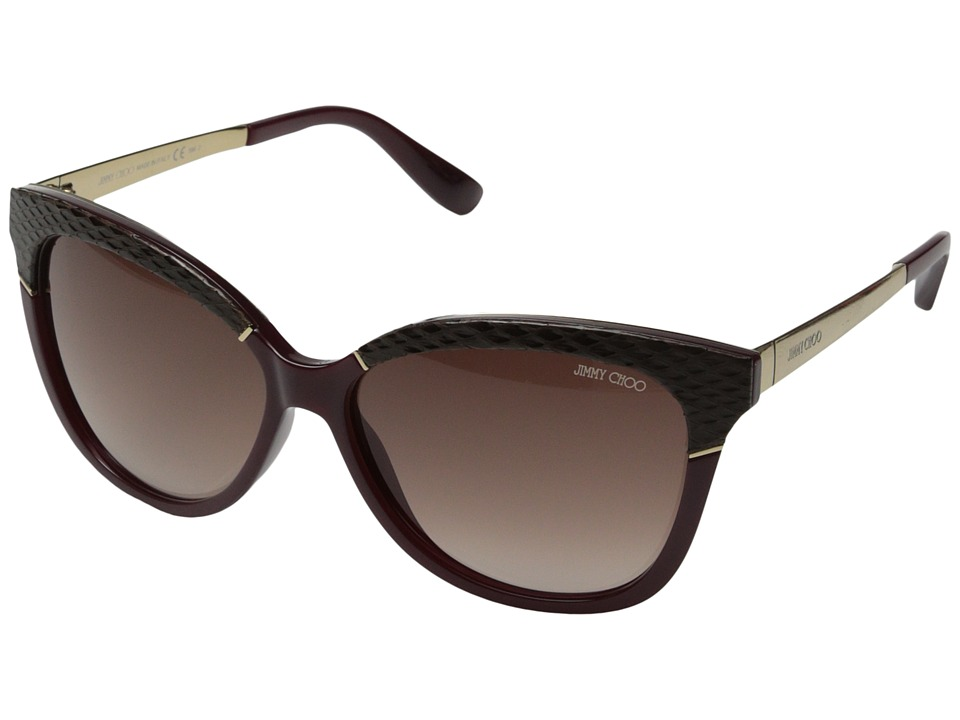 Jimmy Choo - Ines/S (Burgundy/Brown Gradient) Fashion Sunglasses