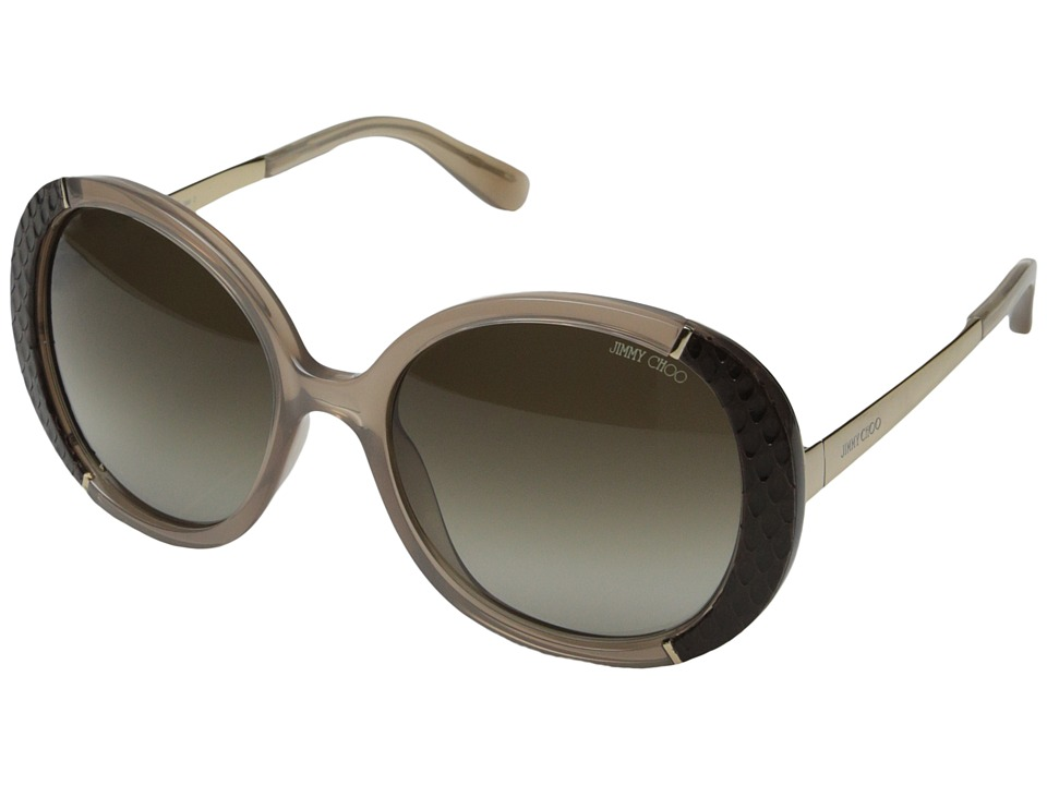 Jimmy Choo - Millie/S (Opal Mud/Brown Gradient) Fashion Sunglasses