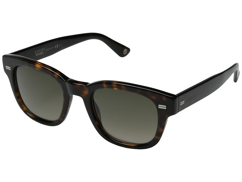Gucci - GG 1079/S (Brown Havana/Brown Gradient) Fashion Sunglasses