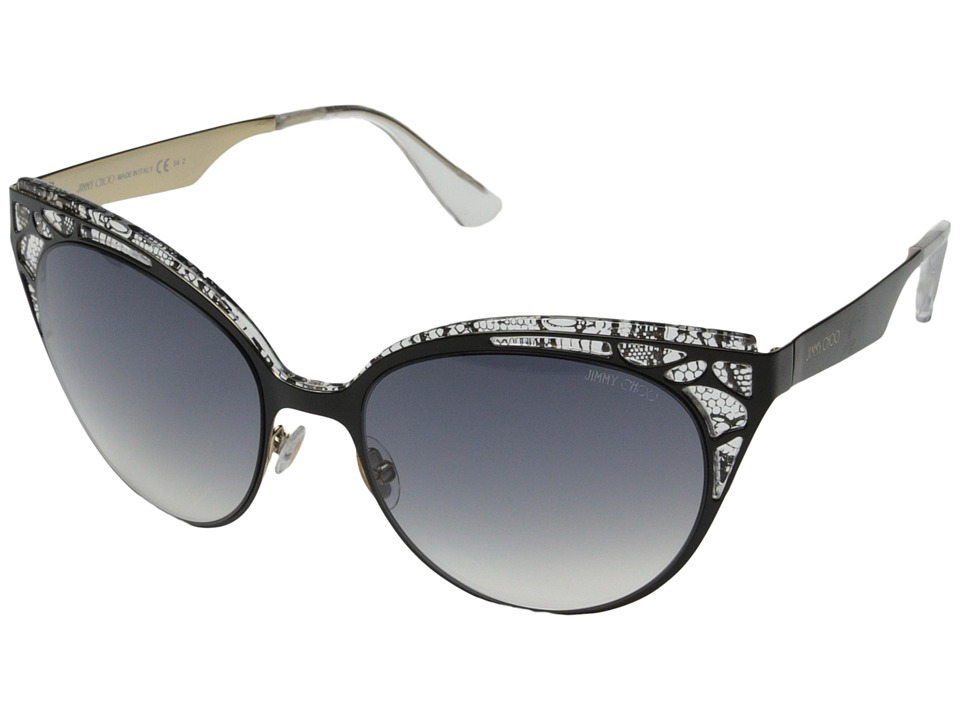 Jimmy Choo - Estelle/S (Shiny Black/Gray Gradient) Fashion Sunglasses
