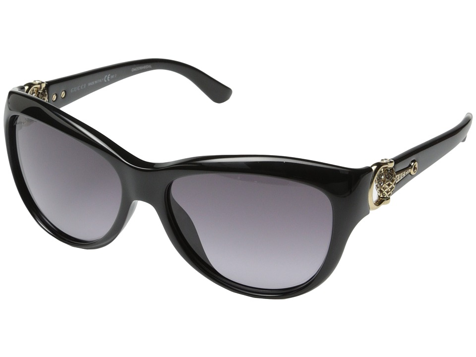 Gucci - GG 3711/S (Black Shiny Gray Gradient) Fashion Sunglasses