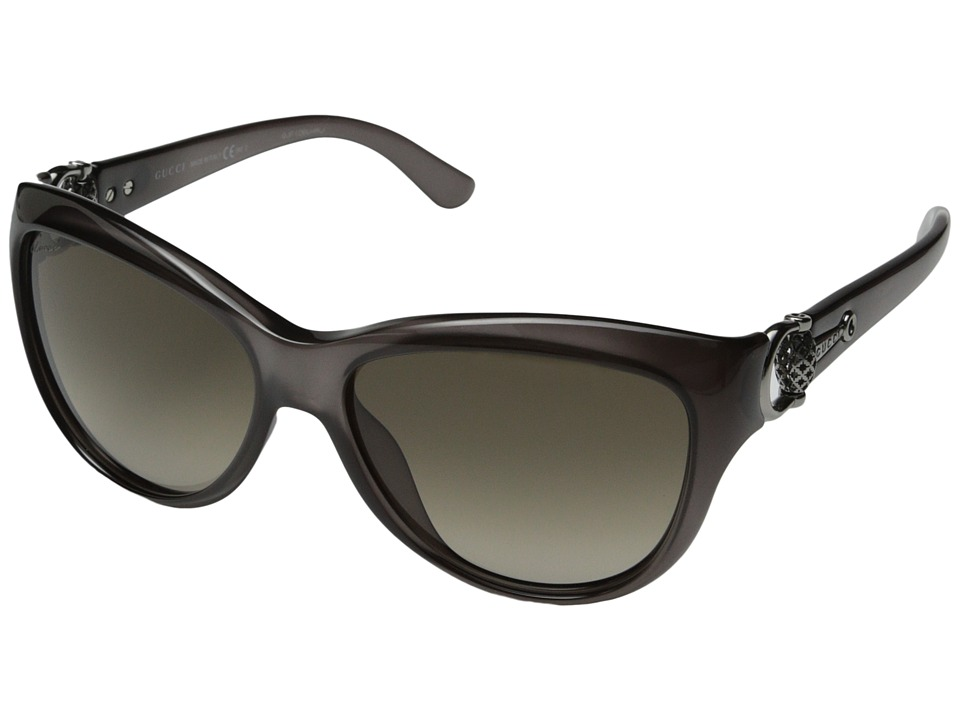 Gucci - GG 3711/S (Opal Gray/Brown Gradient) Fashion Sunglasses