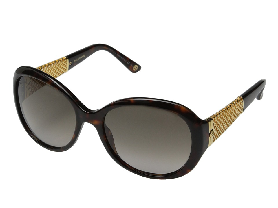 Gucci - GG 3693/S (Havana Gold/Brown Gradient) Fashion Sunglasses