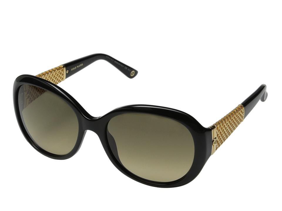 Gucci - GG 3693/S (Black Gold/Brown Gradient) Fashion Sunglasses