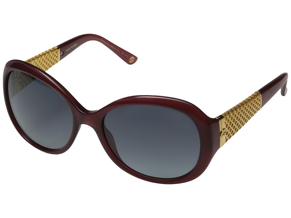 Gucci - GG 3693/S (Red Gold/Gray Gradient) Fashion Sunglasses