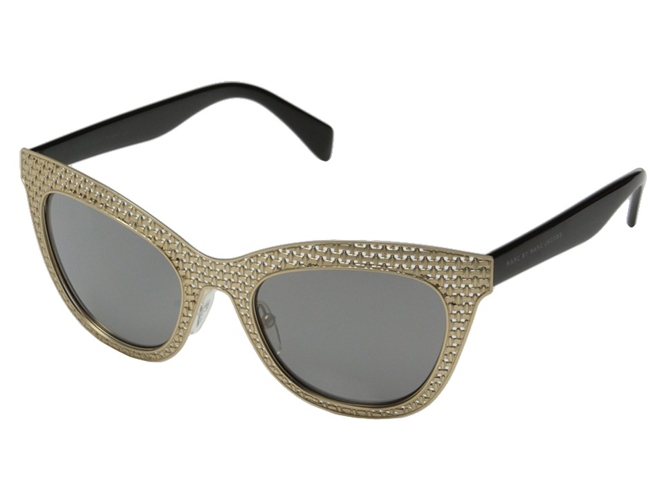 Marc by Marc Jacobs - MMJ 435/S (Gold Black/Black Mirror) Fashion Sunglasses