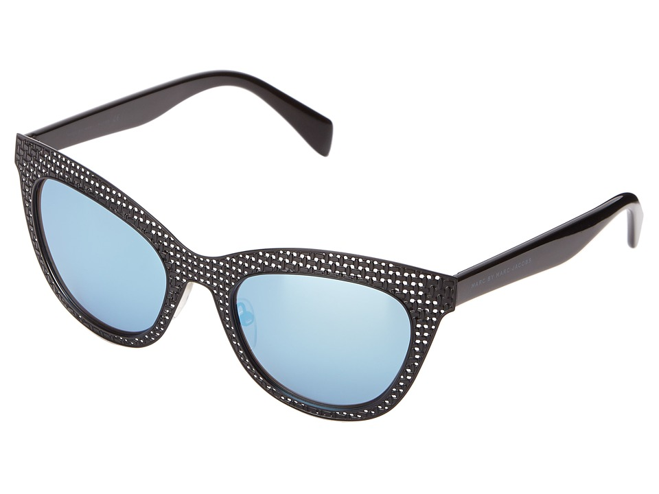 Marc by Marc Jacobs - MMJ 435/S (Matte Black Shiny Black/Blue Mirror) Fashion Sunglasses