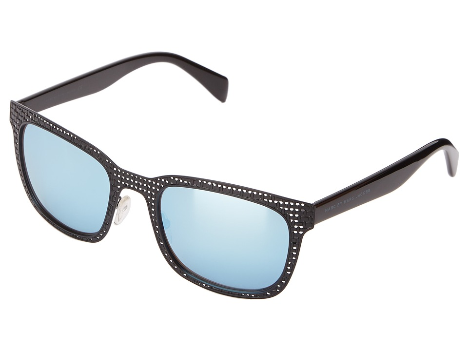 Marc by Marc Jacobs - MMJ 436/S (Matte Black Shiny Black /Blue Mirror) Fashion Sunglasses