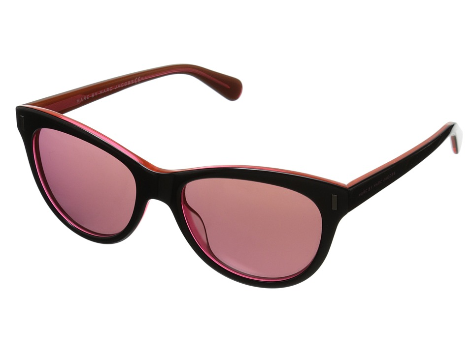 Marc by Marc Jacobs - MMJ 434/S (Black Orange/Mirror Pink) Fashion Sunglasses