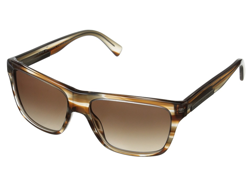 Marc by Marc Jacobs - MMJ 441/S (Stripe Brown/Brown Gradient) Fashion Sunglasses